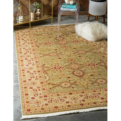 Sebou Light Green Area Rug Rug Size: Rectangle 33 x 53