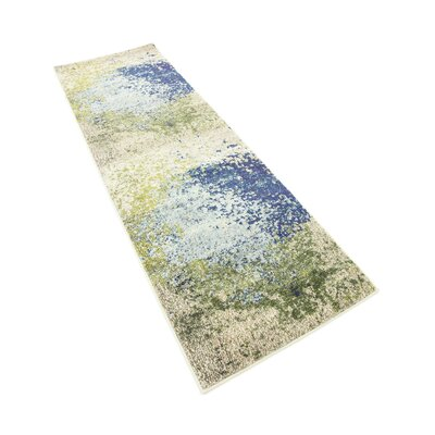 Hayes Blue/Green Area Rug Rug Size: Runner 22 x 67
