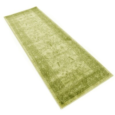 Shailene Light Green Area Rug Rug Size: Runner 27 x 10