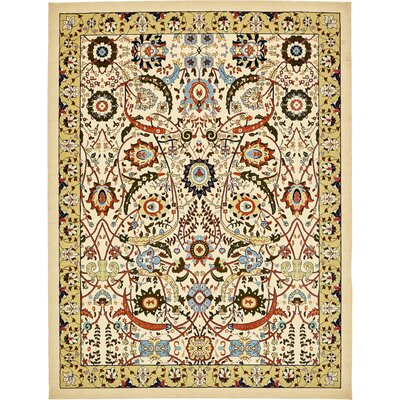 Anfa Cream Area Rug Rug Size: Rectangle 9 x 12