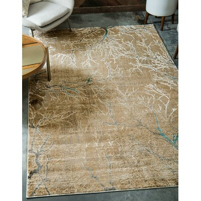 Essex Light Brown Area Rug Rug Size: Square 8
