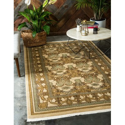 Fonciere Green Area Rug Rug Size: Rectangle 106 x 165
