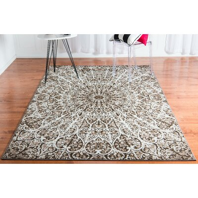 Keswick Brown Area Rug Rug Size: Rectangle 4 x 6