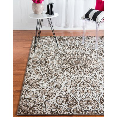 Keswick Brown Area Rug Rug Size: Rectangle 5 x 8
