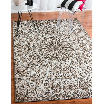 Keswick Brown Area Rug Rug Size: Rectangle 9 x 12