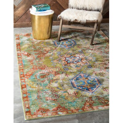 Danbury Multi-Colored Area Rug Rug Size: Rectangle 7 x 910