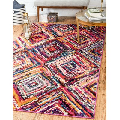 Killington Pink Area Rug Rug Size: Rectangle 33 x 53