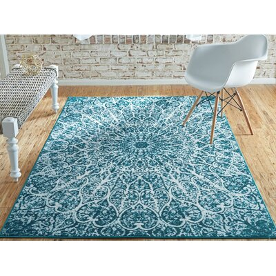 Keswick Turquoise Area Rug Rug Size: Rectangle 33 x 53