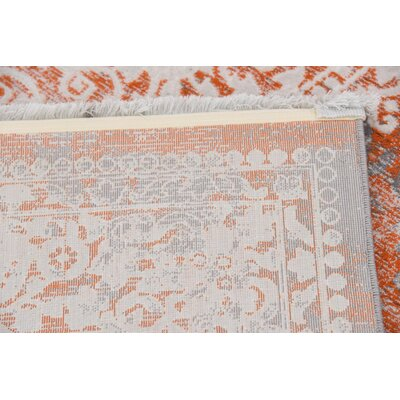 Colebrook Orange Area Rug Rug Size: Rectangle 5 x 8