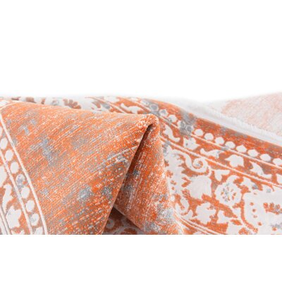 Colebrook Orange Area Rug Rug Size: Square 8