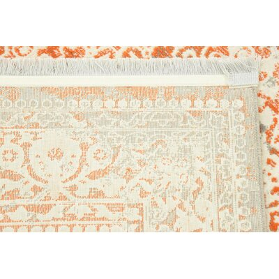 Colebrook Orange Area Rug Rug Size: Rectangle 4 x 6