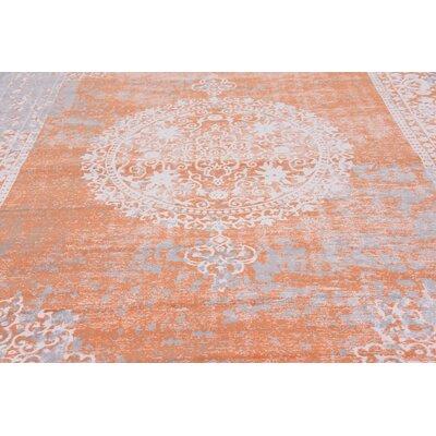 Colebrook Orange Area Rug Rug Size: Rectangle 7 x 10