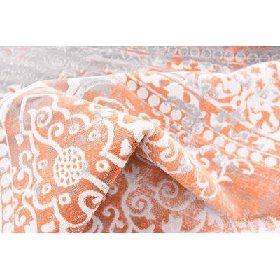 Colebrook Orange Area Rug Rug Size: Rectangle 9 x 12