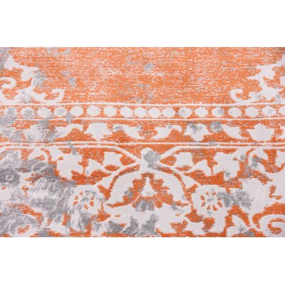 Colebrook Orange Area Rug Rug Size: Rectangle 8 x 11