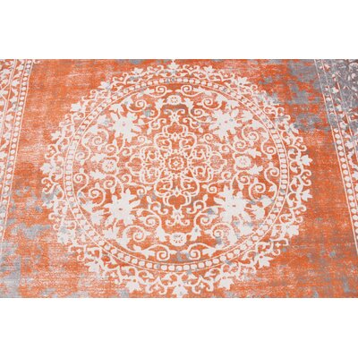 Colebrook Orange Area Rug Rug Size: Rectangle 8 x 10