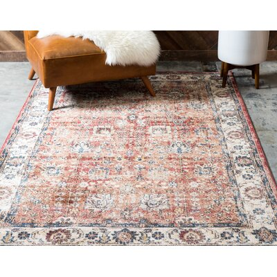 BallyS Terracotta Area Rug Rug Size: Rectangle 9 x 12
