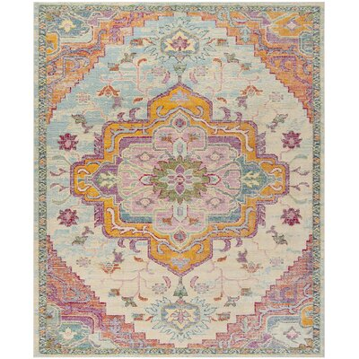 Floressa Light Blue/Fuchsia Area Rug Rug Size: Rectangle 10 x 14