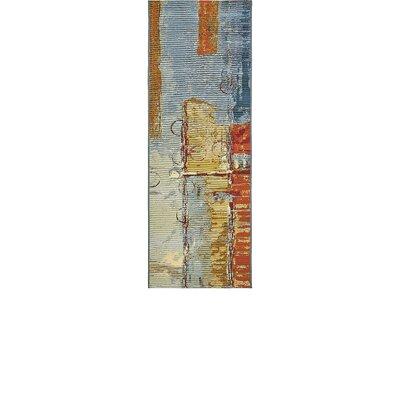 Camdyn Blue/Red Indoor/ Outdoor Area Rug Rug Size: Runner 2 x 6