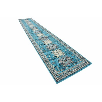 Sina Turquoise Area Rug Rug Size: Runner 22 x 82