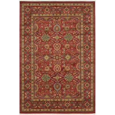 Willow Red Indoor Area Rug Rug Size: Rectangle 7 x 10