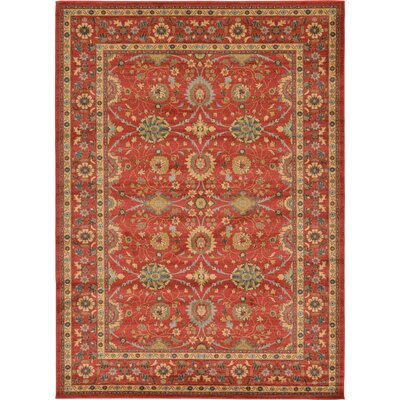 Willow Red Indoor Area Rug Rug Size: Rectangle 9 x 12