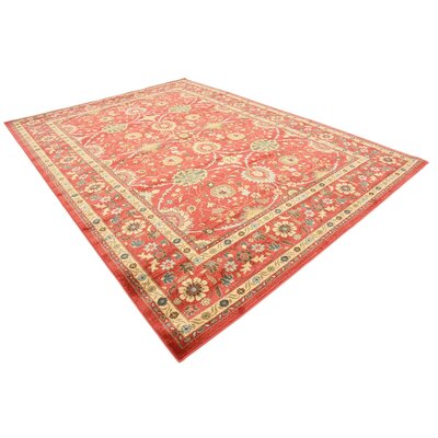 Willow Red Indoor Area Rug Rug Size: Rectangle 8 x 114