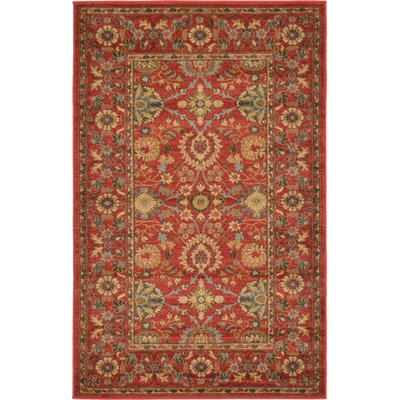 Willow Red Indoor Area Rug Rug Size: Rectangle 33 x 53