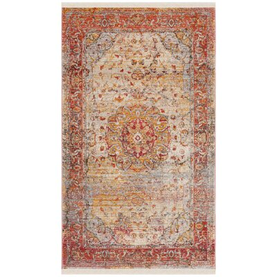 Alena Lake Saffron Area Rug Rug Size: Rectangle 3 x 5