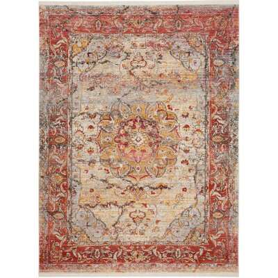 Alena Lake Saffron Area Rug Rug Size: Rectangle 5 x 76