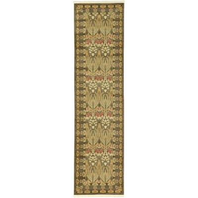 Willow Brown Area Rug Rug Size: Runner 27 x 10