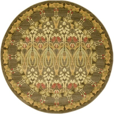 Willow Brown Area Rug Rug Size: Round 6