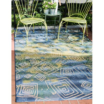 Camdyn Blue Indoor/Outdoor Area Rug Rug Size: Rectangle 53 x 8