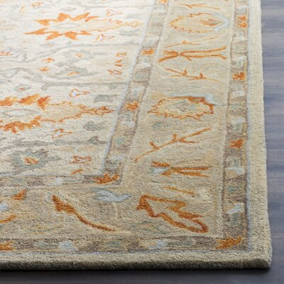 Genemuiden Hand-Tufted Beige Area Rug Rug Size: Rectangle 6 x 9
