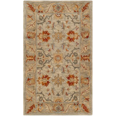 Genemuiden Hand-Tufted Beige Area Rug Rug Size: Rectangle 3 x 5