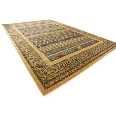 Foret Noire Tan Area Rug Rug Size: Rectangle 5 x 8