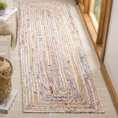 Bowen Hand-Woven Beige/Yellow Area Rug Rug Size: Runner 23 x 8