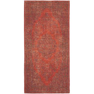 Thompson La Foa Red Area Rug Rug Size: Rectangle 24 x 48