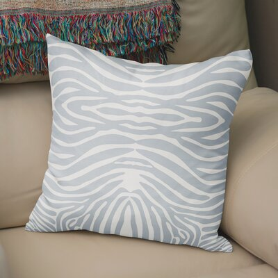 Nerbone Burlap Throw Pillow Size: 18 H x 18 W x 5 D, Color: Blue/ Ivory