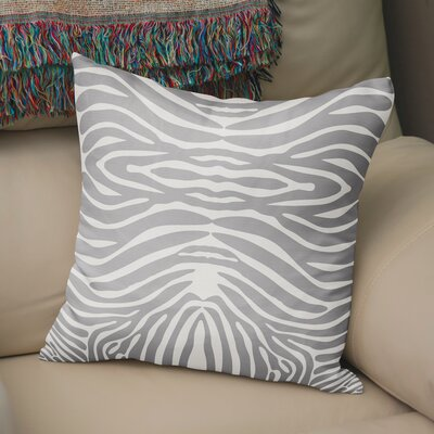 Nerbone Burlap Throw Pillow Size: 18 H x 18 W x 5 D, Color: Grey/ Ivory