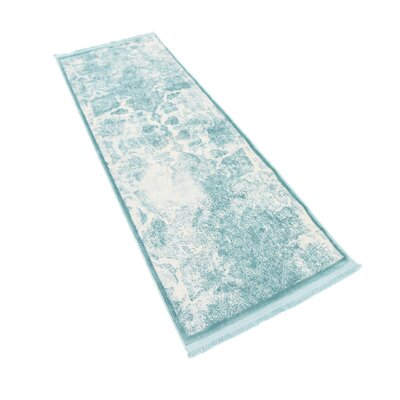 Jacobson Blue Area Rug Rug Size: Runner 22 x 6