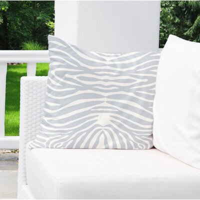 Nerbone Burlap Indoor/Outdoor Throw Pillow Size: 16 H x 16 W x 5 D, Color: Blue/ Ivory