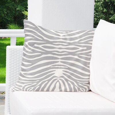 Nerbone Burlap Indoor/Outdoor Throw Pillow Size: 16 H x 16 W x 5 D, Color: Grey/ Ivory