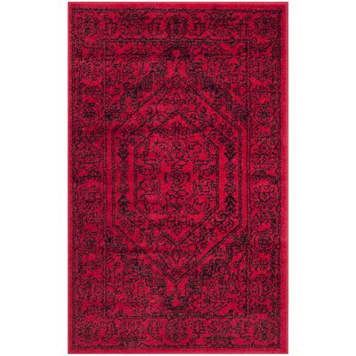 Nemisco Red Area Rug Rug Size: Rectangle 2'6
