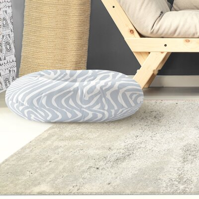Nerbone Round Floor Pillow Size: 26 H x 26 W x 12.5 D, Color: Blue/ Ivory
