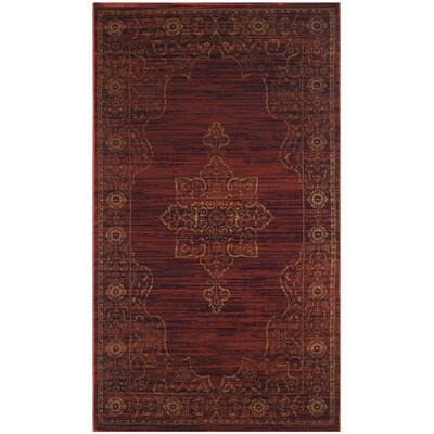 Watts Red Area Rug Rug Size: Rectangle 33 x 53