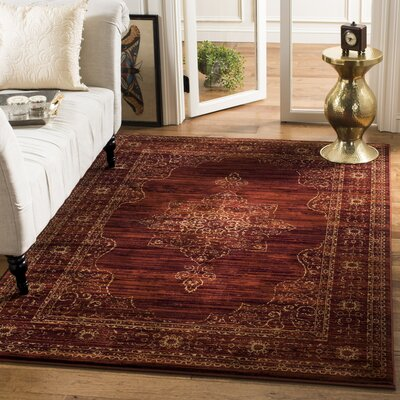 Watts Red Area Rug Rug Size: Rectangle 51 x 76