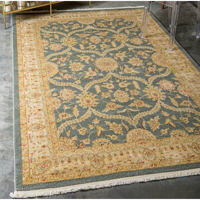 Willow Blue/Beige Area Rug Rug Size: Rectangle 9 x 12