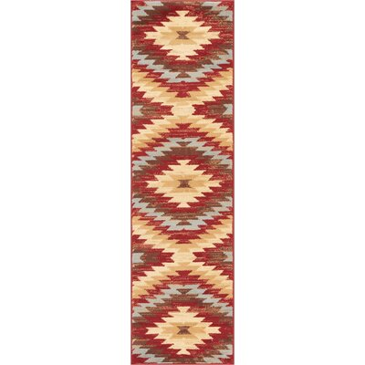 Binstead Southwestern Power Loom Red Indoor Area Rug Rug Size: Runner 2 x 72
