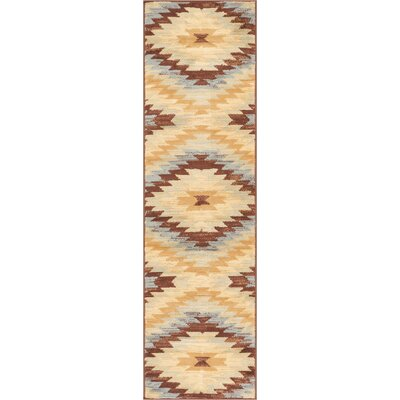 Binstead Southwestern Power Loom Beige Indoor Area Rug Rug Size: Runner 2 x 72