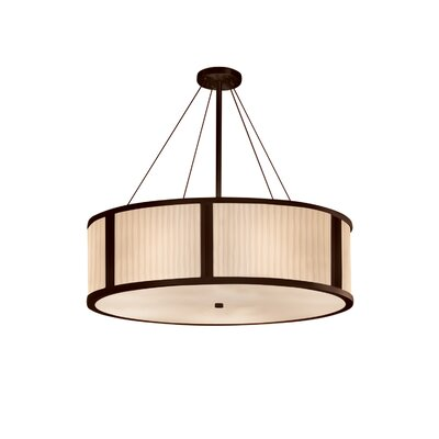 Salaam 8-Light Drum Pendant Base Finish: Dark Bronze